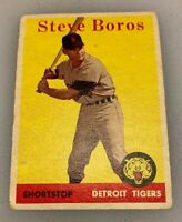 1958 Topps # 81 Steve Boros Baseball Card Detroit Tigers