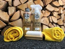 Chemical Guys Leather Cleaner & Conditioner Kit 16oz + Microfibres & brush kit