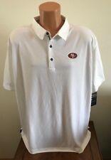 Men's Size Xl Nike Dry Elite Coaches Polo Shirt White Nfl San Francisco 49ers