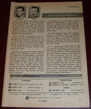 1956 CLEVELAND DATELINE TV GUIDE PAGE~OTTO GRAHAM & JOE FINAN INDIANS BASEBALL