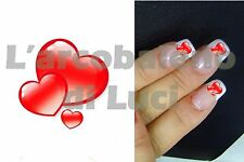 20 nail stickers hearts red heart red hearts nail art stickers