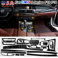 for BMW F10 F18 5 Series Glossy Carbon Fiber Sticker Interior Vinyl Decal Trim
