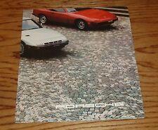 Original 1980 Porsche Large Poster Sales Brochure 80 924 Turbo 911 SC 928