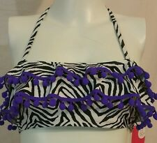 Xhilaration Swim Beach Bikini top New Sz Large 10/12(7025