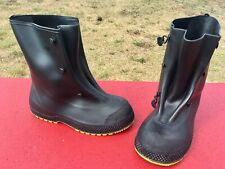 New Onguard Black Military Rubber 5 Buckle Mid Calf Over Boots Overshoes