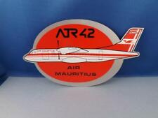 AIR MAURITIUS AIRLINES ATR42 STICKER DECAL VINTAGE AIRPLANE AVIATION COLLECTOR