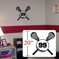 Lax lacrosse Personalized Sticker,Vinyl lacrosse personalized wall Lax decal