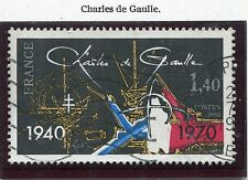 TIMBRE FRANCE OBLITERE N° 2114 CHARLES DE GAULLE