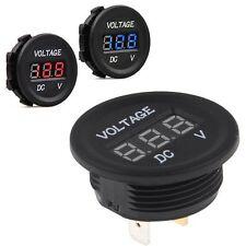 Wasserdichte Runde Panel DC 12 V Auto Boot LED Digitalanzeige Voltmeter Meter Vm