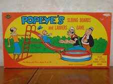 RARE 1958 Popeye's SLIDING BOARDS AND LADDER & THE LITTLE BURRO Board Games ExC!