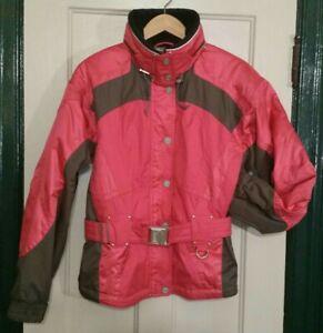 Vintage MARKER Women's Pink/Coral Gray Black Jacket Buckle Belt Size 8