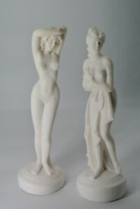 Standing Nude Lady Statues Sculptures Figurines Art Deco Greek Made in Italy