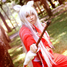 Inuyasha Bakemonogatari Monstory Black Hanekawa  Silvery White Cosplay Wig