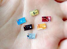 Dollhouse Miniature 1:12 Scale Assorted Realistic Handmade Bank Credit Cards Set