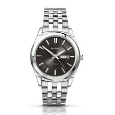 Sekonda 38mm Silver Gents Watch With Black Dial SK3479