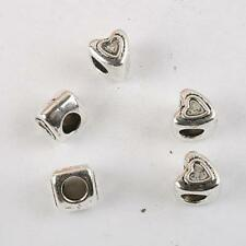 10pcs dark silver-tone heart bead fit bracelet 8290