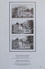 DIE ENTWICKLUNG DER TRINKKUR vor 1830, 1830, 1839 Baden bei Wien Reprint print