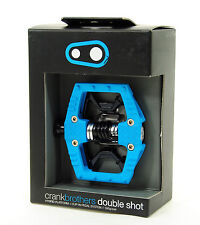 Crank Brothers Double Shot Clipless Platform Mountain Bike Pedals, Light Blue