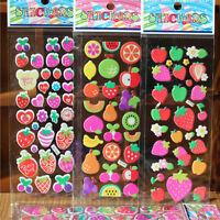 10x 3D Sticker Cartoon Home Decors Decors toy fruits Cartoon Stickers  OA5