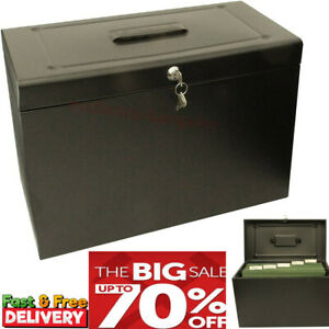Small Filing Cabinet Portable A4 Filing Secure Storage Lockable Metal Home File