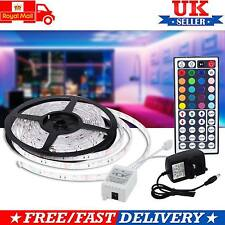 Impermeable 5 m RGB LED Tira 5050 SMD Flexible Luces 150 Leds Con Control Remoto 44 claves