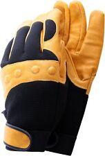 Town & Country TGL432M Premium Leather Comfort Fit Navy/Tan Medium Mens Gloves