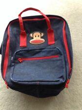 Paul Frank, Julius Blue Denim Red Trim Backpack BookBag School Travel Unisex