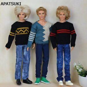 Handmade Jeans Long Jeans Denim Pants For Barbie Boyfriend Ken Boy Doll Clothes