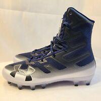 New Under Armour Highlight MC UA Football Cleats Navy 3000177-402 Men's Size 8