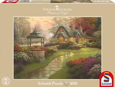 1000 Teile Schmidt Spiele Puzzle Thomas Kinkade Haus mit Brunnen 58463