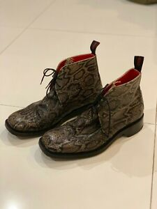 Jeffery west Chukka, Made in England, Leather sole, Snake Skin leather look