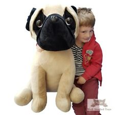 Huge Giant Extra Large Pug Soft Toy Plush 65cm