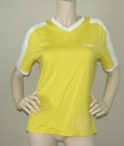 VERSACE Intensive Women's Top Yellow T-Shirt V-Neck Size L Made in Italy