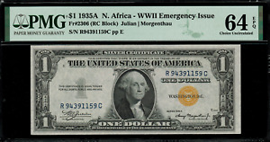 1935A $1 North Africa WWII Emergency Issue FR-2306 - Graded PMG 64 EPQ