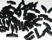 Lego Lot of 50 New Black Sloped Slope Curved 4 x 1 Inverted Pieces