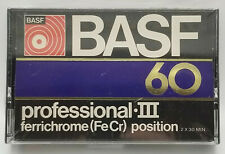 BASF 60 Professional III Cassette Tape NOS - Sealed in the Original Packaging