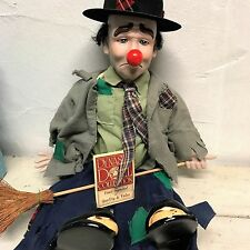 "Dynasty 19"" Emmet kelly type Clown Doll"