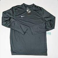 Nike Long Sleeve Shirt Men's Running Training Gym Sport Athletic Grey CI4760-060