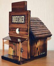 Old West Undertaker Birdhouse Western Style Americana Old Dakota. Walnut Wood