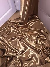 "3 MTR NEW ANTIQUE GOLD SATIN LINING FABRIC...45"" WIDE"
