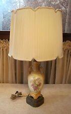 Antique Neo Classical Urn Lamp Bronze Porcelain w/Floral Design