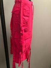 Ladies Long Octopus Boyfriend Ibiza Shorts Sizes XS S M L White Pink Blue