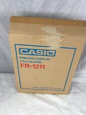 Vintage Boxed Prop Casio Printing Calculator FR-1211 Electronic AC Powered  K3B