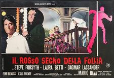 CINEMA-fotobusta IL ROSSO SEGNO DELLA FOLLIA s. forsyth, l. betti; MARIO BAVA