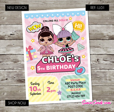 LOL Dolls Birthday Invitations Personalised Party Invites for Any Age LOL Theme