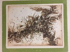 Tres belle gravure de john Levee  signé expressionisme abstrait usa 1960