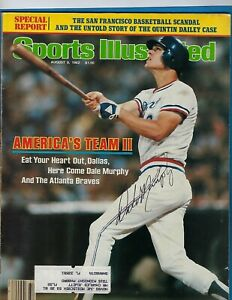 Sports Illustrated August 9, 1982 Dale Murphy Atlanta Braves AUTOGRAPHED