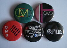 "5 x Orchestral Manoeuvres in the Dark 1"" Pin Button Badges ( omd dazzle ships )"