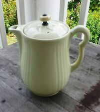 Great Vintage Celadon Green Art Deco Ceramic Coffeepot