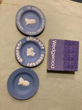 The Wedgwood Collectors Society-Jasperware-3 Blue Small Plates-England